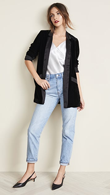BB Dakota Midnight In Paris Velvet Blazer