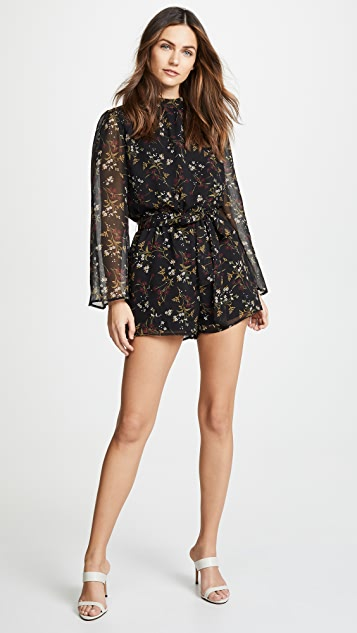 BB Dakota Rise and Shine Chiffon Romper