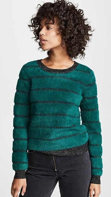 BB Dakota Can't Stop Metallic Stripe Sweater