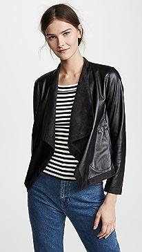 Teagan Reversible Drape Front Jacket