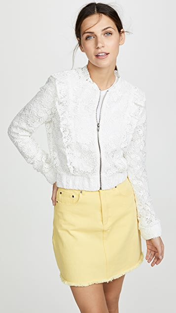 BB Dakota Lace Closed Bomber Jacket