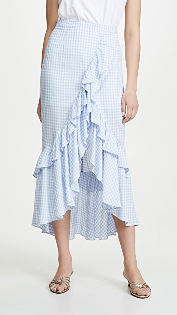 BB Dakota Go Gingham Tiger Skirt