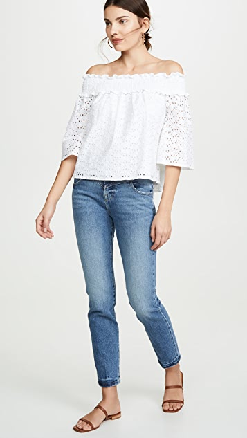 BB Dakota Jack By BB Dakota Eyelet You Know Top