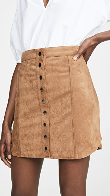 Alright Alright Faux Suede Skirt by Bb Dakota