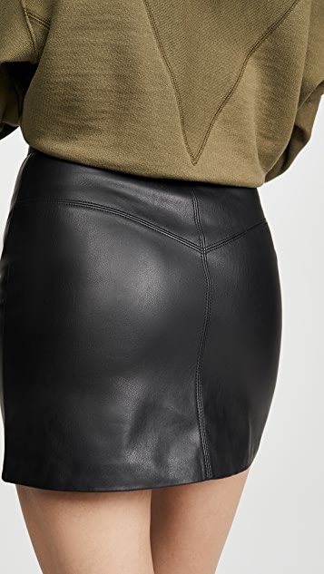 BB Dakota Keep Livin Vegan Leather Skirt