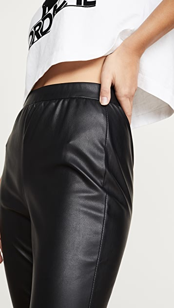 BB Dakota Nice Stems Vegan Leather Leggings