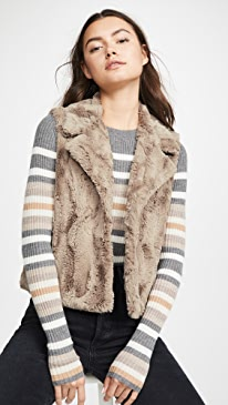 Jack By BB Dakota Aint It Fuzzy Faux Fur Vest