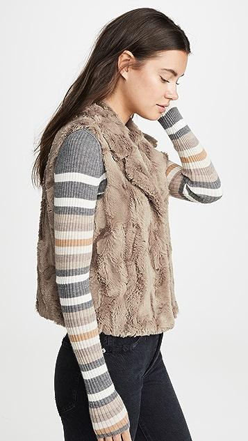 BB Dakota Jack By BB Dakota Aint It Fuzzy Faux Fur Vest