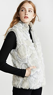 Jack By BB Dakota In A Furry Faux Fur Vest