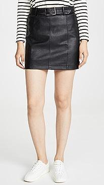 Jack By BB Dakota So Edgy Vegan Leather Skirt