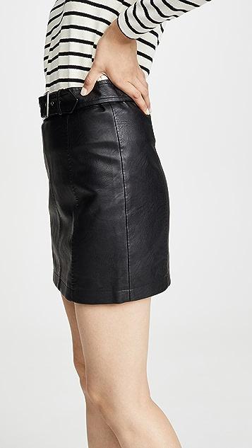 BB Dakota Jack By BB Dakota So Edgy Vegan Leather Skirt