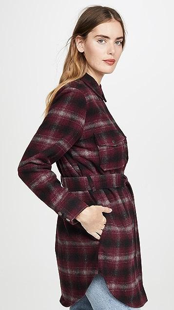 BB Dakota 系腰带格子外套