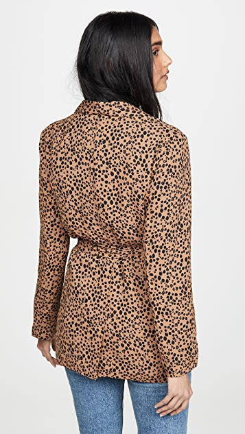 BB Dakota 系腰带豹纹印花西装外套