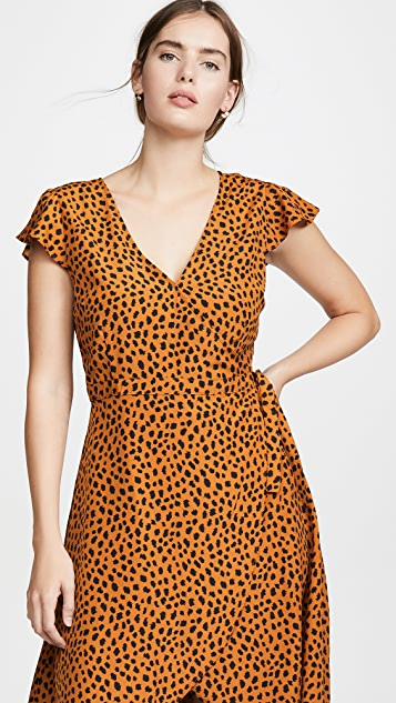 BB Dakota Leopard Print Wrap Dress