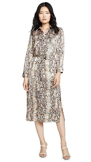 BBDakota Платье-рубашка с принтом под питона