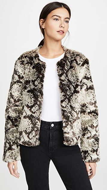 BB Dakota Snake Out Faux Fur Jacket