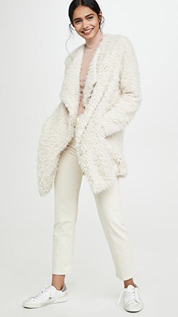 BB Dakota Soft Serve Drape Front Coat
