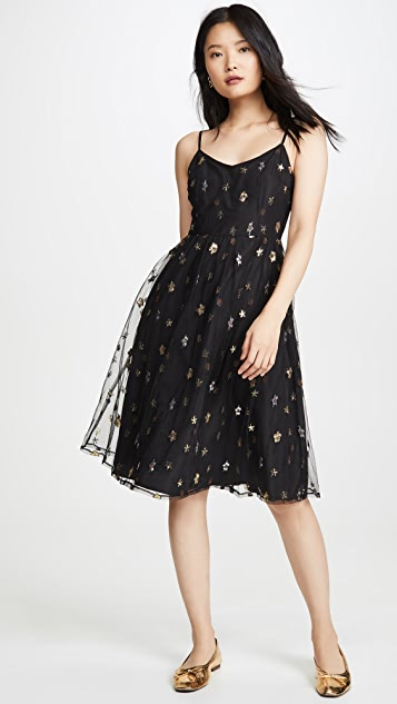 Bb Dakota Dresses Metallic Star Dress