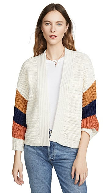 BB Dakota Block & Roll Cardigan