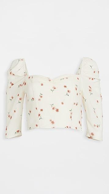 BB Dakota 零星雏菊印花泡泡袖上衣