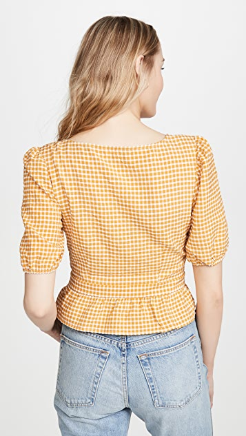 BB Dakota Gingham Seersucker Top