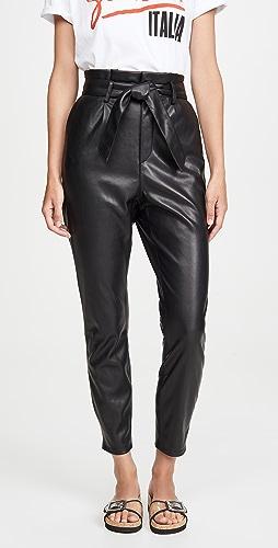 BB Dakota - 仿皮纸袋长裤
