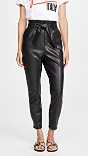 BB Dakota Vegan Leather Paper Bag Pants