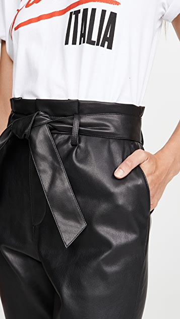 BB Dakota Vegan Leather Paper Bag Pants