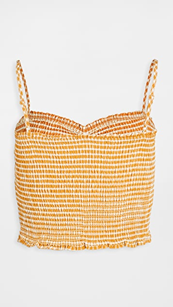 BB Dakota Hello Sunshine Smocked Top