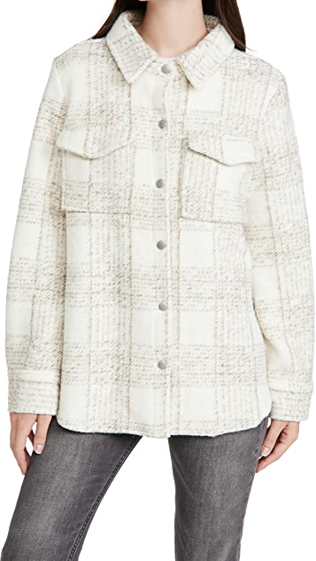 BB Dakota Work Hard Play Hard Plaid Knit Jacket