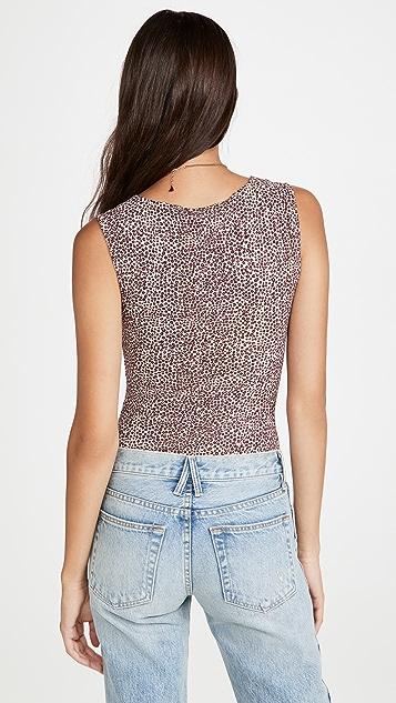 BB Dakota Spottu Body Leopard Print Thong Bodysuit