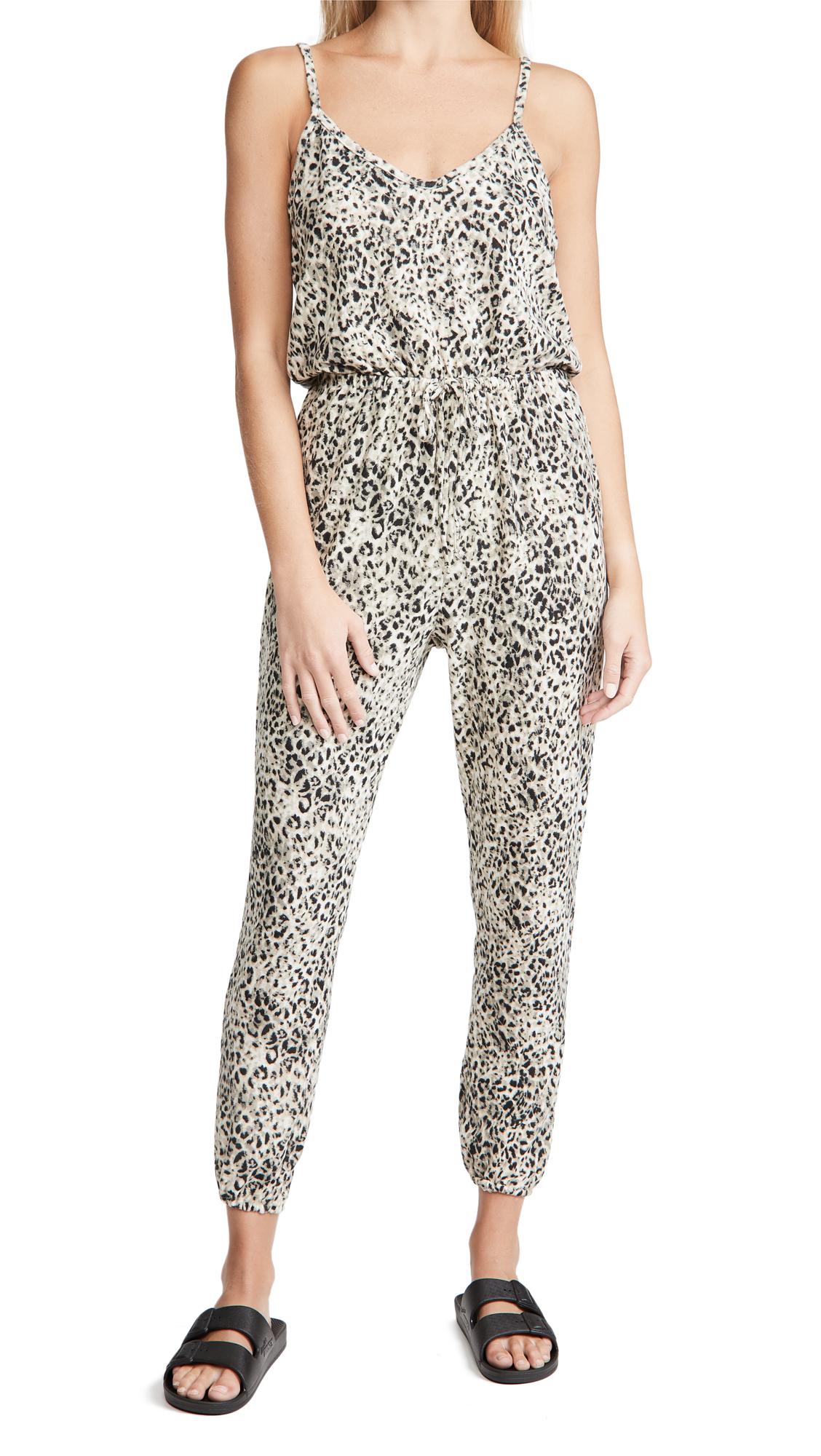 BB Dakota Cat Like Reflexes Leopard Jumpsuit