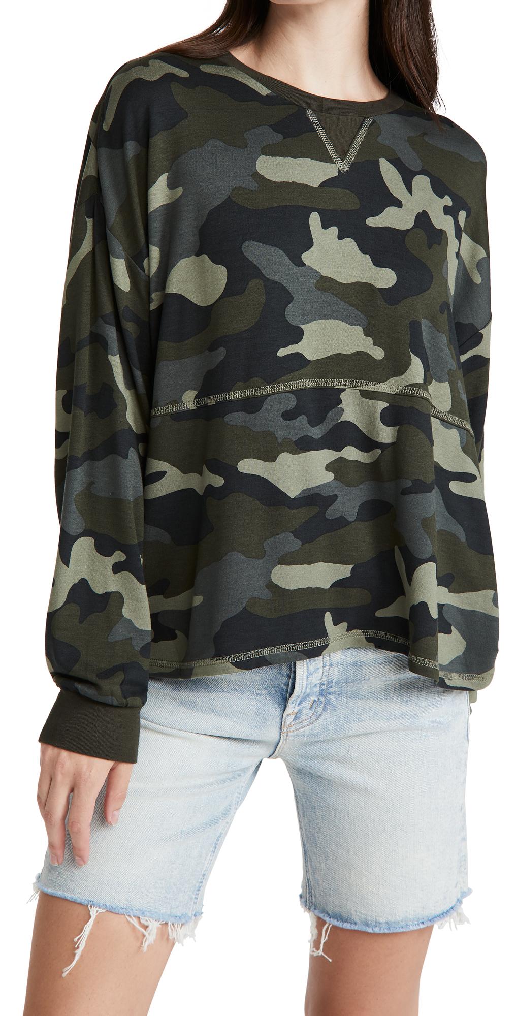 BB Dakota Nothin' To See Here Camo Sweatshirt