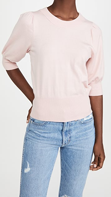 BB Dakota Girl Next Door Puff Sleeve Sweater