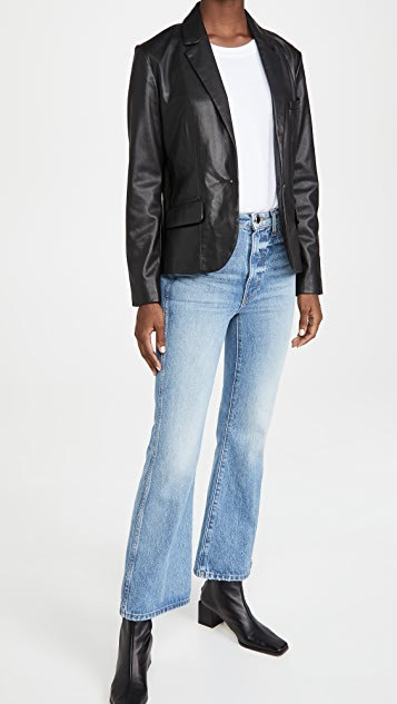 BB Dakota Serious or Not Vegan Leather Blazer