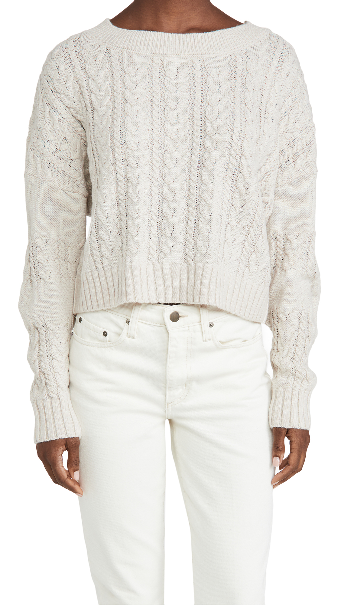 BB Dakota Isn't She Cute Cable Knit Crop Sweater