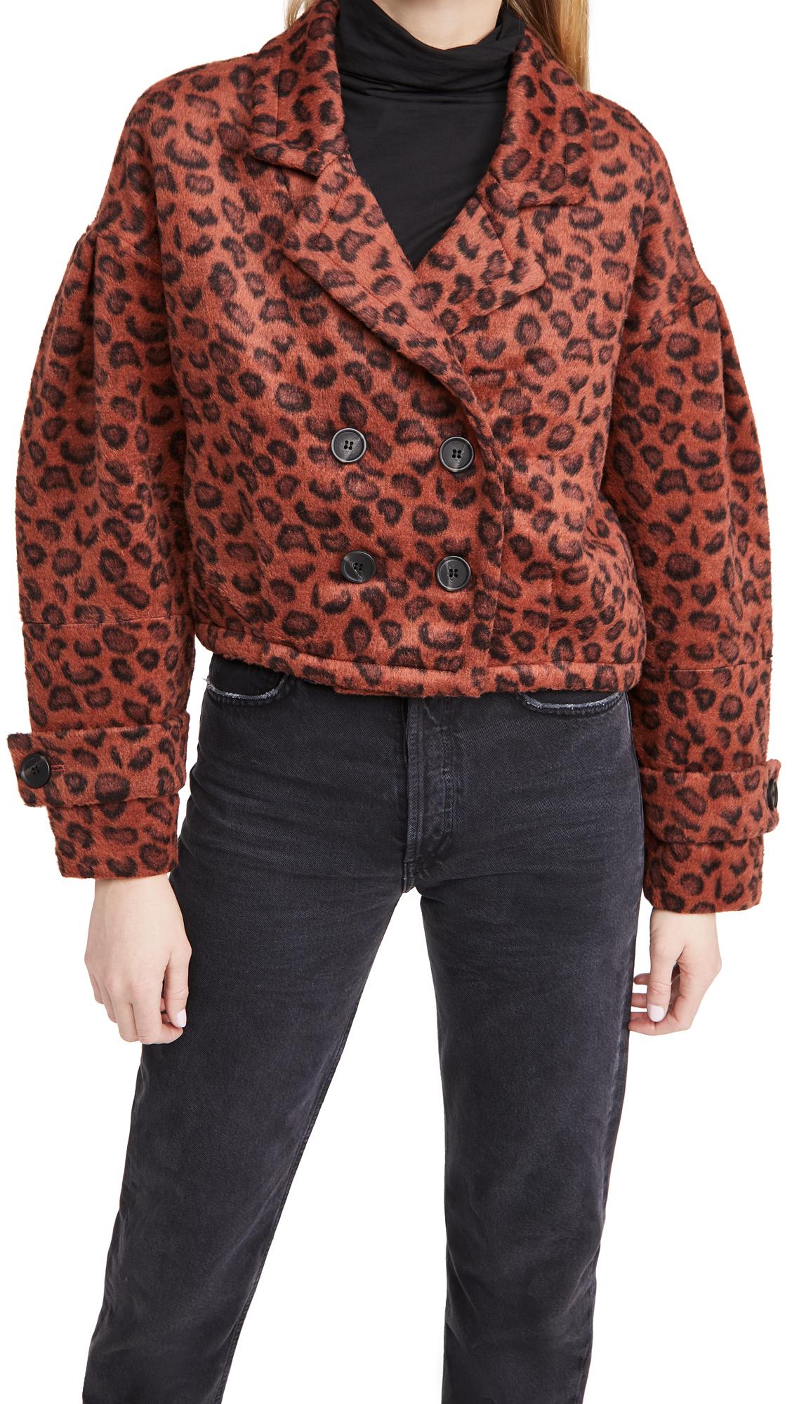 BB Dakota Wow Moment Leopard Brushed Jacket
