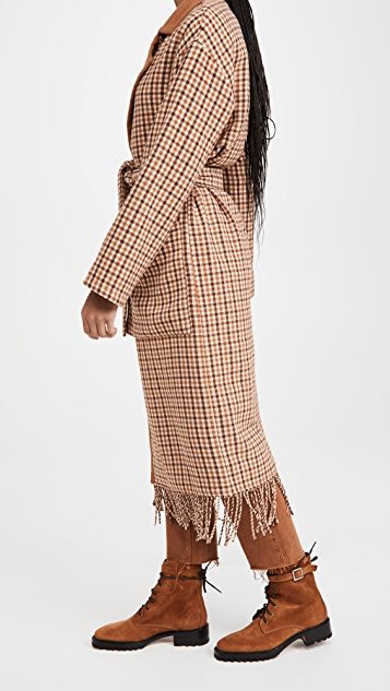 BB Dakota That Covers It Check Coat