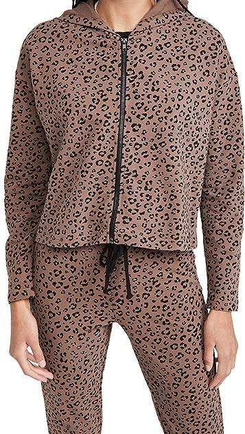 BB Dakota Purr Favor 豹纹印花法式毛圈布夹克