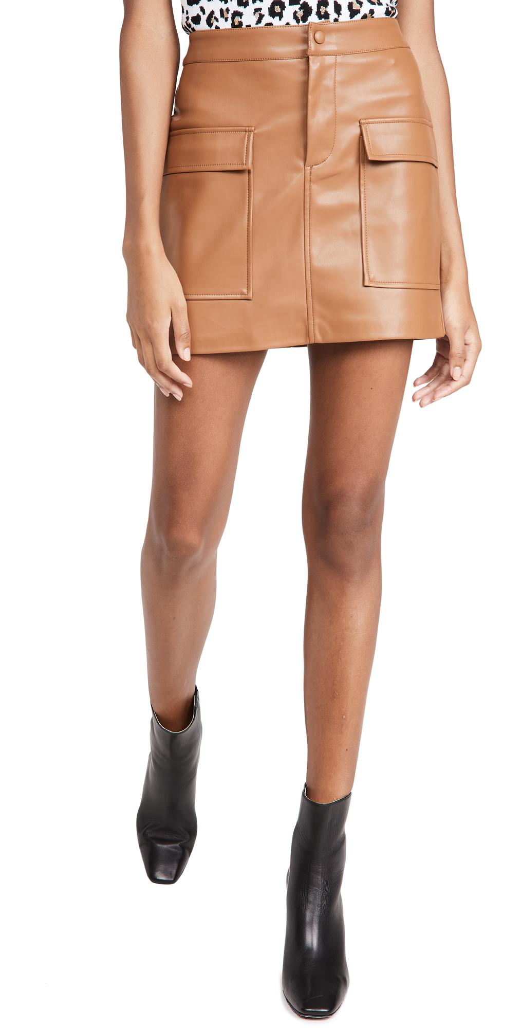 Vegan Leather Too Late Miniskirt