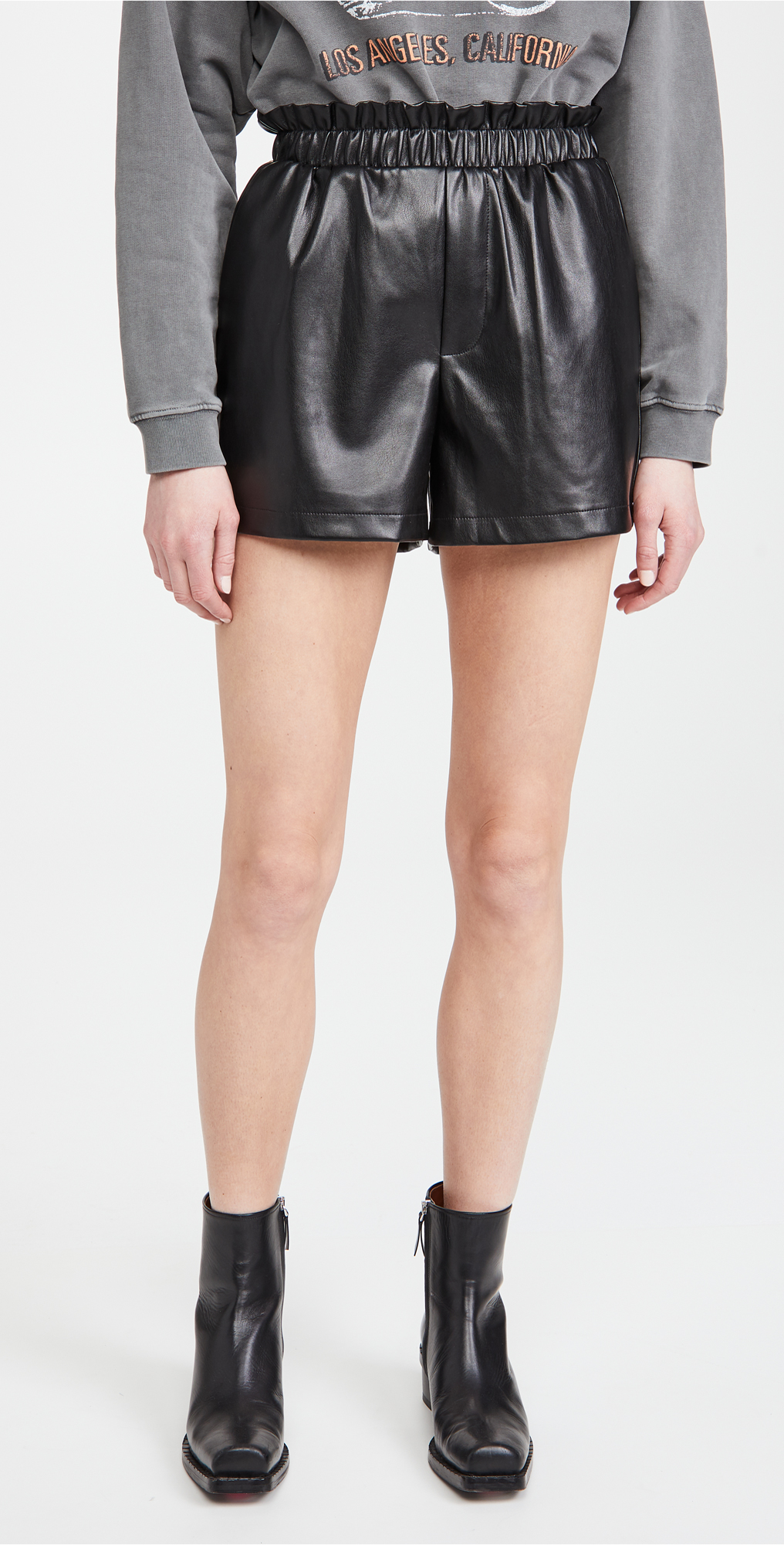 BB Dakota Out Of The Bag Faux Leather Shorts