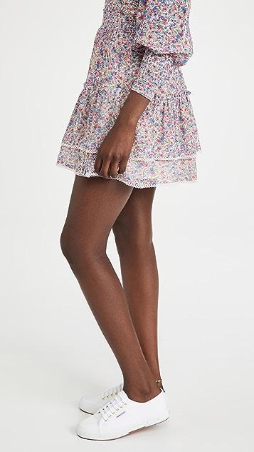 BB Dakota Ruffle Mini Skirt
