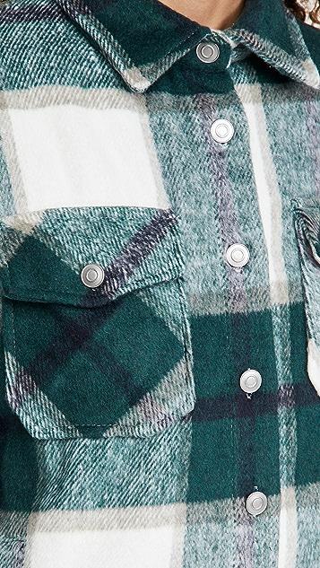 BB Dakota 格子衬衣式外套