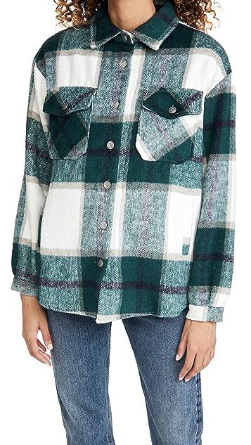 BBDakota Plaid Shirt Jacket