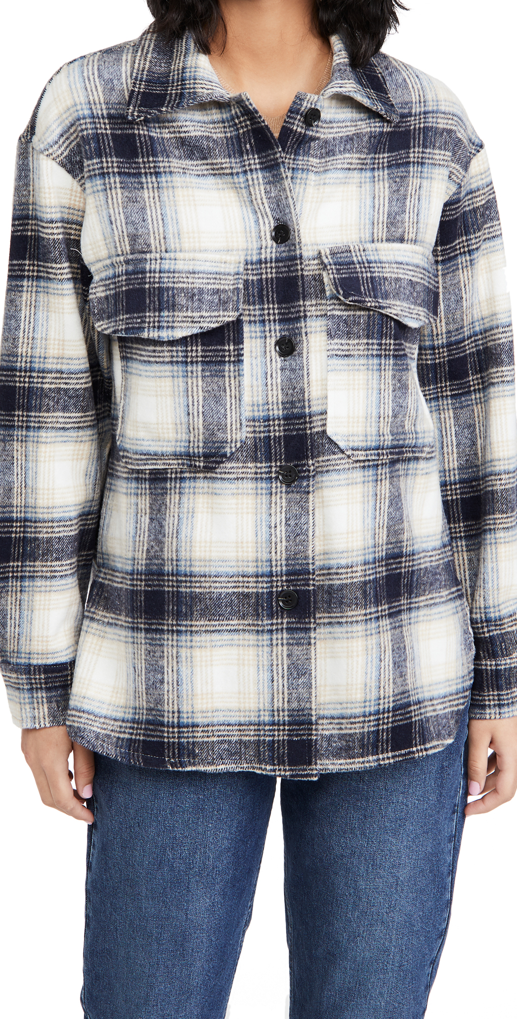 BB Dakota Plaid Shirt Jacket