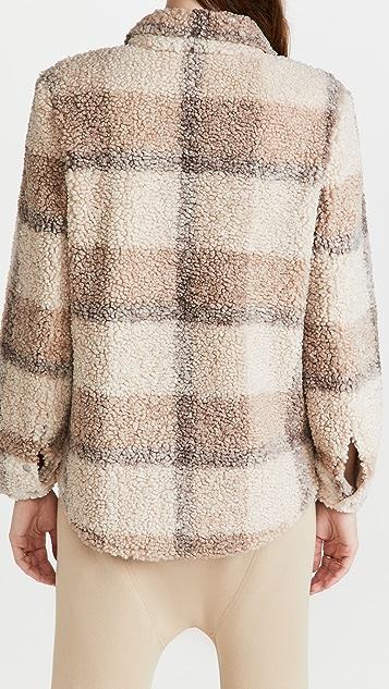 BB Dakota 格子羊羔绒衬衫式夹克