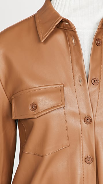 BB Dakota Faux Leather Shirtdress