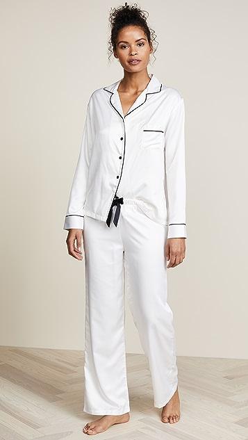 风信子紫 Claudia 衬衣和裤子套装