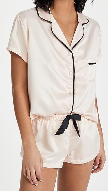 Bluebella Abigail 衬衫和短裤套装