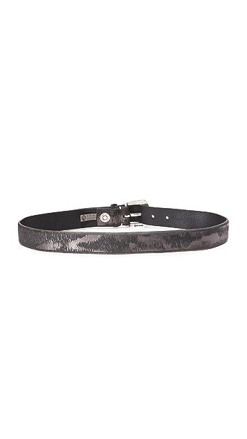 B. Belt Metallic Twill Print Belt